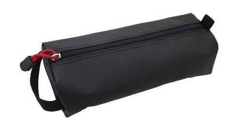 Rough Enough Black Rubberized Big Tool Pencil Case Pouch Holder