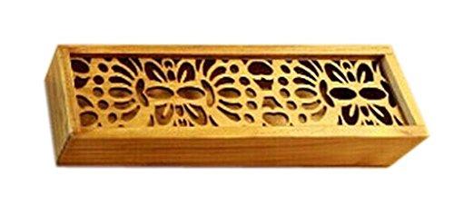 2Pcs Wooden Pencil Cases Pen Boxes Pencil Pouches Storage Box Butterfly
