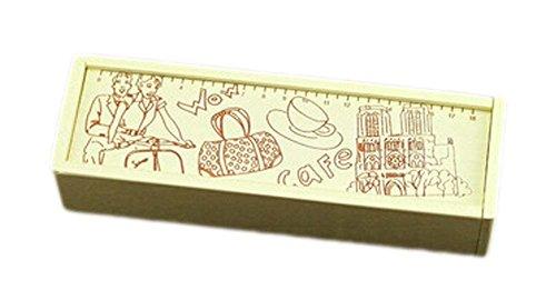 2Pcs Wooden Pencil Cases Pen Boxes Pencil Pouches Storage Box Riding Bike