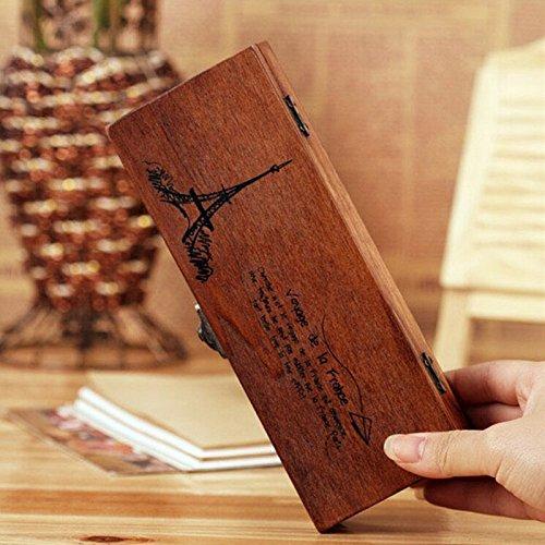WelecomTM Eiffel Tower Wooden Pencil Box Gift