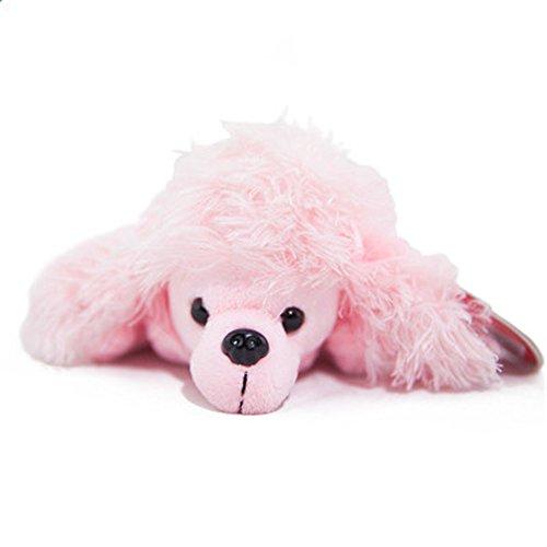 Kangkang  Cute Cartoon Animal Design Soft Plush Pencil Box Case Pig98 Cartoon Pen Bag Stuffed Animal Dolls Cute Doll Make-up Bag Pink Dog