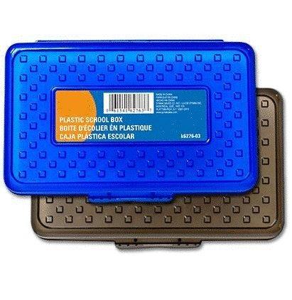 Plastic Pencil Case Box in Assorted Colors