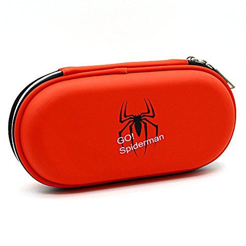 SOOCUTE Hardtop Big Capacity Pencil Case Pen Bag Makeup Pouch Durable Students Stationery Box Spiderman