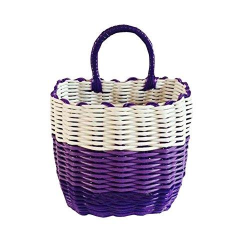 Elegant Purple HomeOffice Wall Hanging Storage Basket Wonderful Organizer