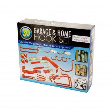 Garage Home Storage Organize 30 Piece Hook Set Vinyl Coated