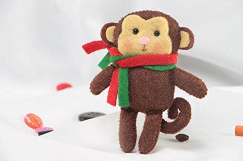 Nice Handmade Designer Felt Soft Wall Hanging Monkey For Home Decor