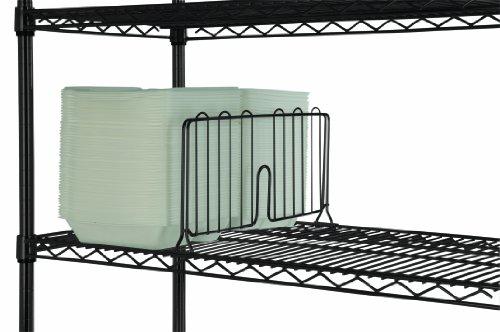 18 Wide Black Wire Shelf Divider