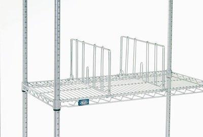 Nexel Wire Shelf Divider Chrome Finish 21W x 8H