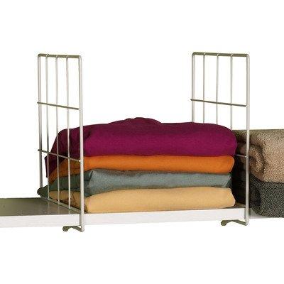 White Wire Shelf Divider - Set of 2