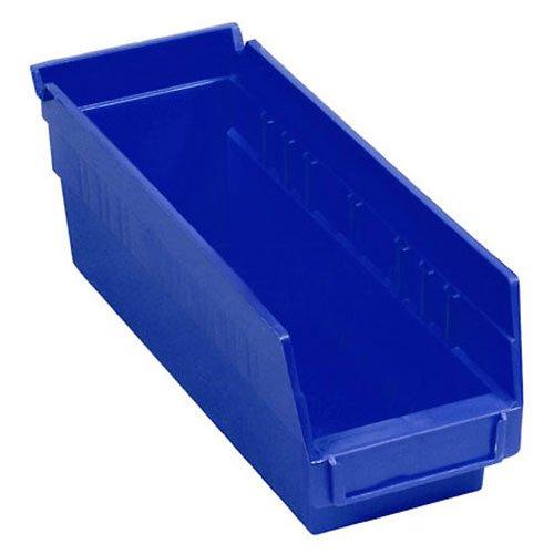 Nestable Shelf Storage Bin Plastic 4-18W X 11-58D X 4H Blue - Lot of 24