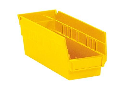 RetailSource 11 58 x 4 18 x 4 Yellow Plastic Shelf Bin Box