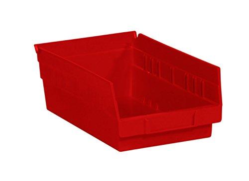RetailSource 11 58 x 6 58 x 4 Red Plastic Shelf Bin Box