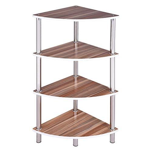 Alalaaso 4 Tier Corner Shelf Corner Shelving Unit Storage Rack Plant Stand Small Bookshelf for Living Room Home Office Kitchen Ship from USA