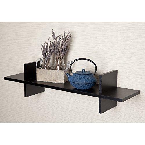 Decorative Black Laminate H Shaped Wall Shelf