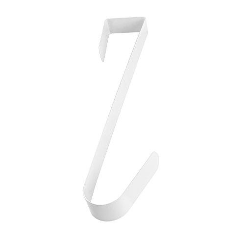 White Metal Home Over The Door Wreath Hanger for Bathroom Bedroom Coats Towels 12