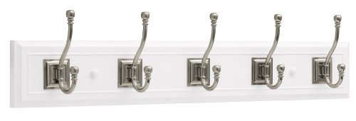 Brainerd R46121Y-WSN-L Five Arch Hook 27-inch Wide Architectural Hat and Coat RailRack by Brainerd