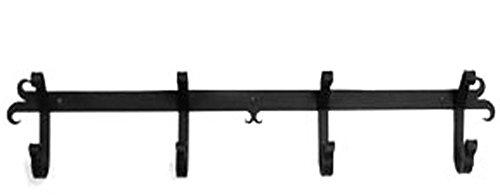Iron Coat Rack-Towel Rack Bar Plain - 24 Heavy Duty Metal Coat Hooks - Hat Rack Coat Rail Or Garmet Rack