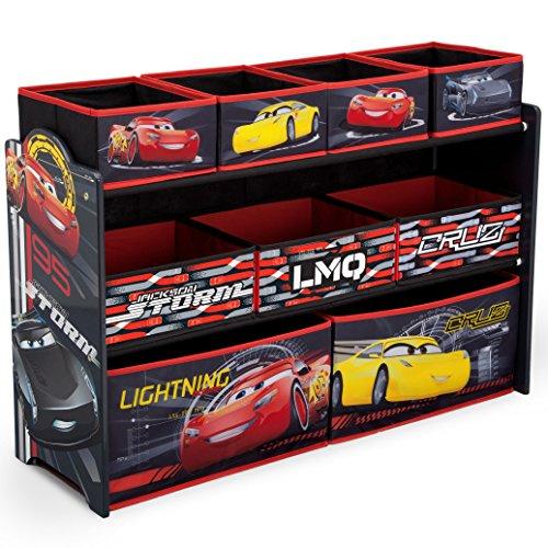 Delta Children Deluxe 9-Bin Toy Storage Organizer DisneyPixar Cars