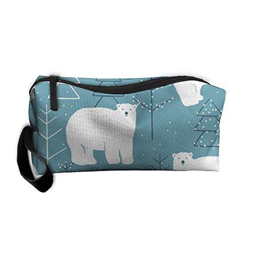 Polar Bear Storage Bag Portable Travel Makeup Bag Pencil Case Cosmetic Bags