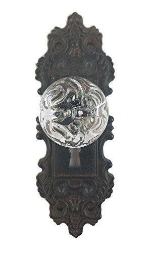Decorative Pewter Wall Hook Vintage Door Knob Style BrownBlack 1 Piece
