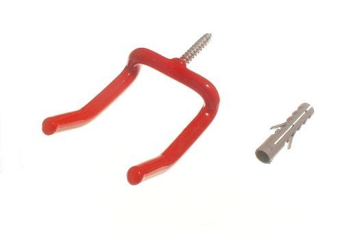 Red Wall Hook Large Tool Storage Hook With Rawl Plug