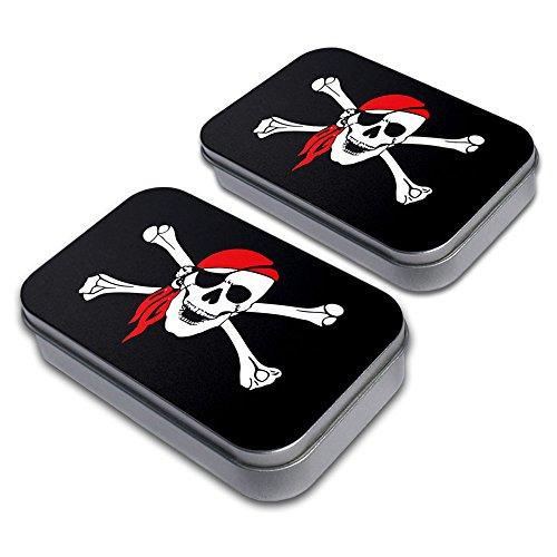 Arrr You a Pirate Decorative Craft Trinket Metal Tin Box Set of 2