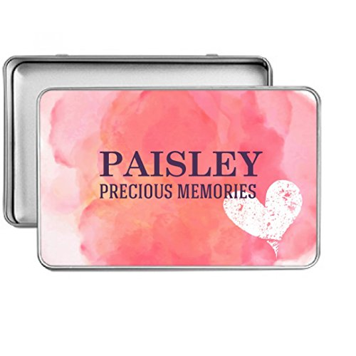 Paisley Precious Memories Heart BoxSmall Rectangle Storage Tin