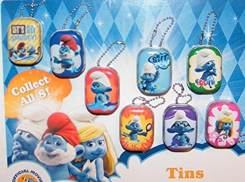 Smufs Figure Toy Mini Tin Storage Boxes Set of 8