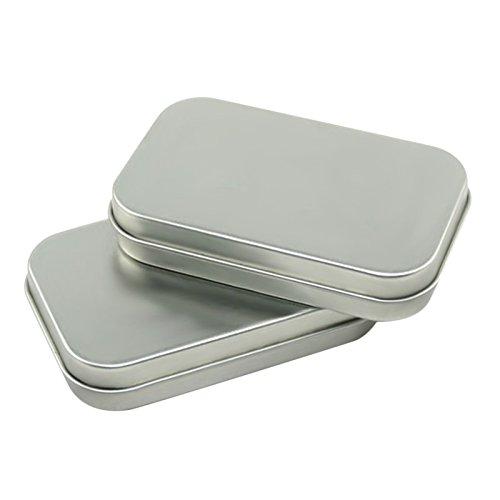 Zehui Steel Tin Box Basic Necessities Tins Small Gift Box for Jewelry Crafts Lip Balm Storage 35 x 24 x 071 Inch