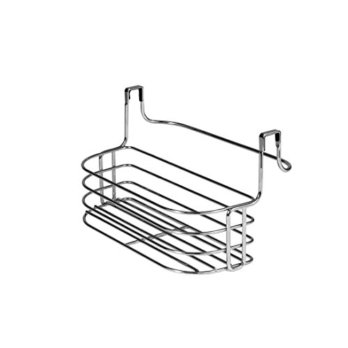 Spectrum Diversified Duo Over-the-Cabinet Towel Bar and Small Basket Chrome
