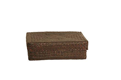 Wald Imports Brown Seagrass-reed 95 Rectangular Decorative Storage Basket