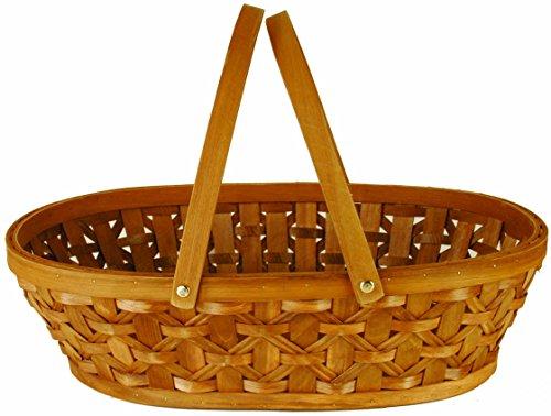 Wald Imports Brown Woodchip 12 Decorative Storage Basket