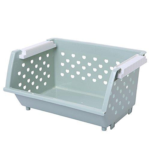 CLG-FLY fruit and vegetable storage basket kitchen debris finishing storage basket multi-storey shelves Blue Single layer