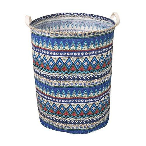 Fieans Clothes Storage Bag Washing Clothing Sorter Organizer Laundry Basket Bag Nursery Hamper-Blue