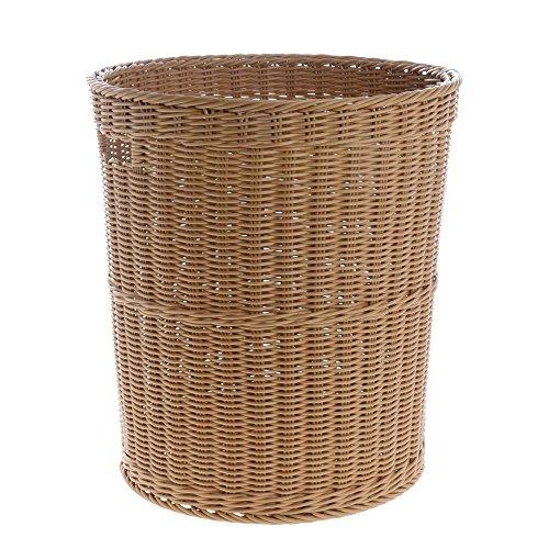 Washable Wicker Tall Basket Dark Beige 15 34Dia x 17 34H