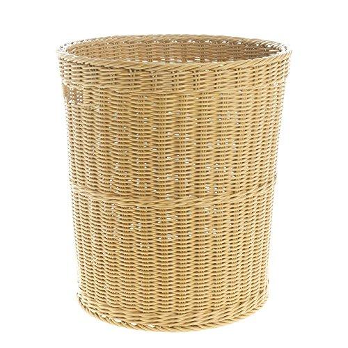 Washable Wicker Tall Basket Light Beige 15 34Dia 17 34H