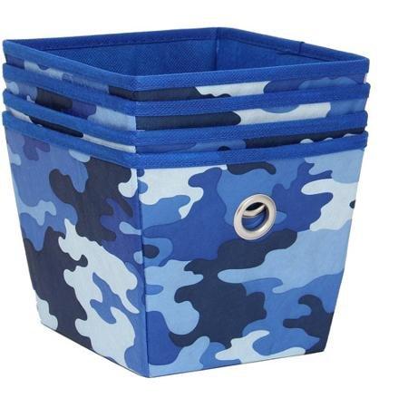 Mainstays Non-Woven Storage bins Bins 4-Pack Camo