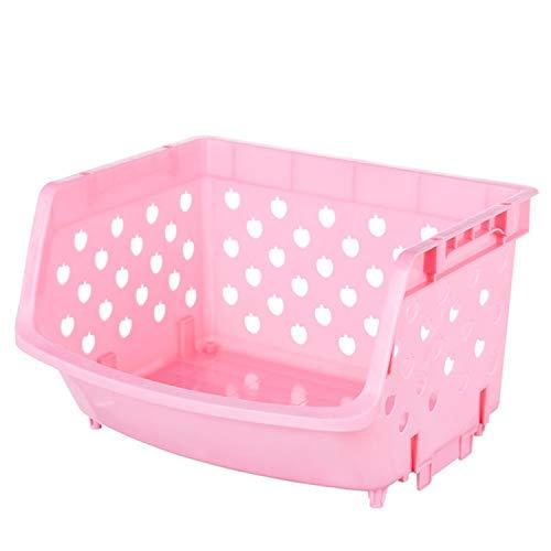Storage Basket Fruit And Vegetables Holders Rack Store Many Debris Kitchen Tools FY0047Pink