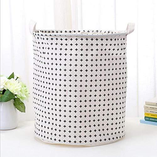 Geciea Clothes Laundry12inch Cotton Linen Storage Bin Folding Laundry Hamper Storage Organizer for Bedroom Nursery Room22 Type Shelf Baskets