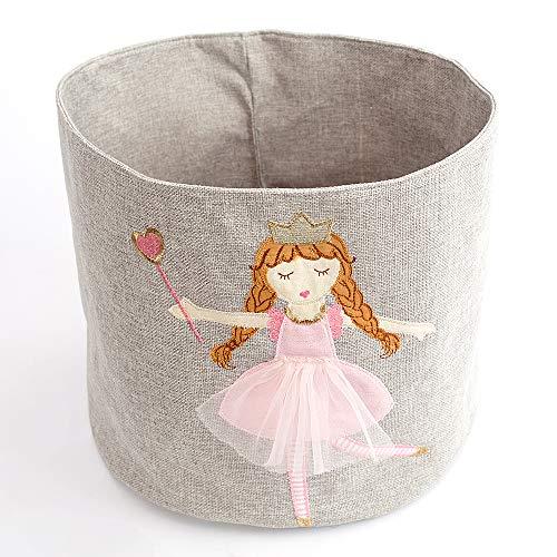 MON AMI Monami Princess Designer Linen Storage Bin 13 x 11 Pink