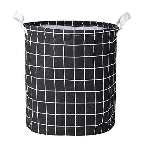 Ouyilu Clothes Laundry12inch Cotton Linen Storage Bin Folding Laundry Hamper Storage Organizer for Bedroom Nursery Room22 Type Shelf Baskets