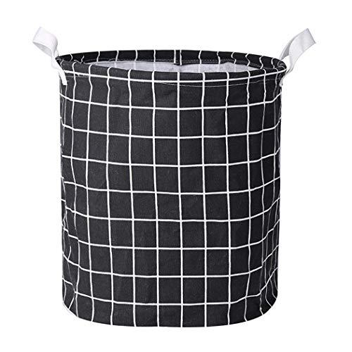 XIAYU Clothes Laundry12inch Cotton Linen Storage Bin Folding Laundry Hamper Storage Organizer for Bedroom Nursery Room22 Type Shelf Baskets