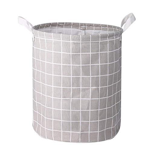 aiversal Cotton Linen Storage Bin Folding Laundry Clothes Basket Organizer Shelf Basket