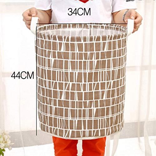 mandii Clothes Laundry12inch Cotton Linen Storage Bin Folding Laundry Hamper Storage Organizer for Bedroom Nursery Room22 Type Shelf Baskets