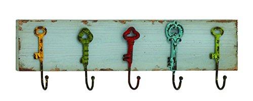Woodland Imports Captain Key Styled Wood Metal Wall Hooks