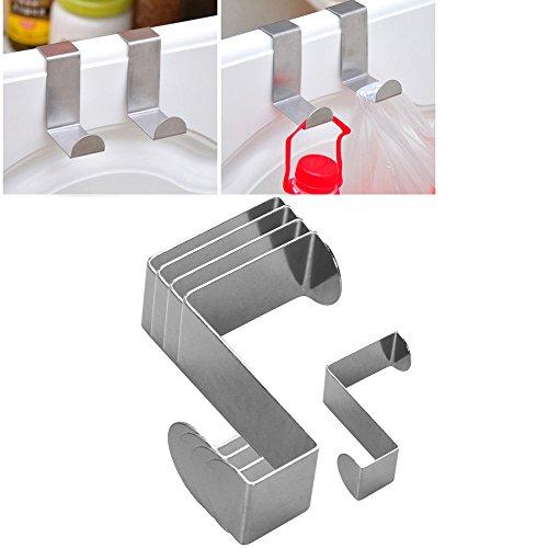 4 PS Door Handbag Coat Hat Key Hook Stainless Steel Cabinet Draw Clothes Utility Hanger Cute S
