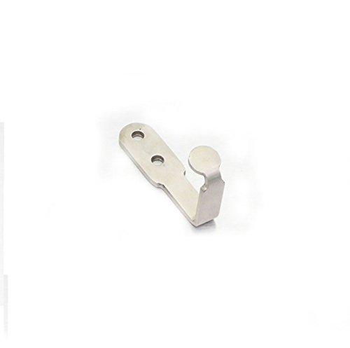 Flyshop Bathroom Toilet Stainless Steel Single Robe Towel Coat Hook Rustproof Utility Hanger 5 Pack