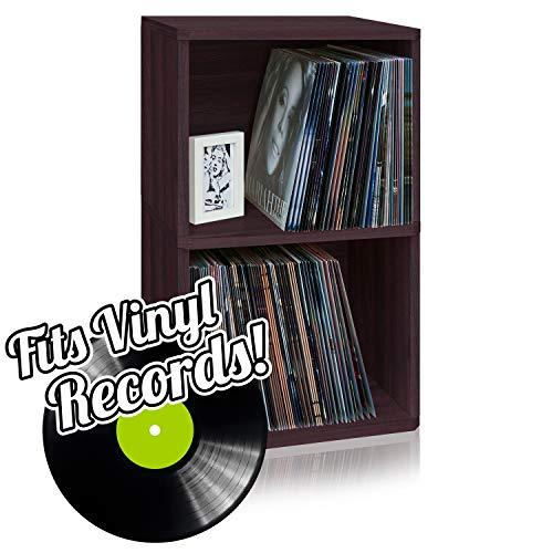 Way Basics 2 LP Album Shelf Vinyl Record Storage Cube Espresso