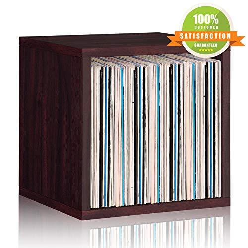 Way Basics Vinyl Record Storage Cube Espresso