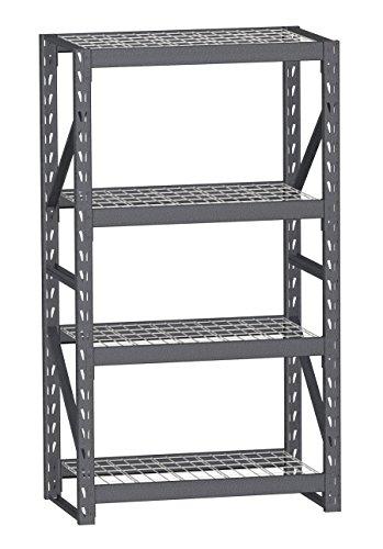 SR-41SL  Split-Level Easy Set-up Industrial Storage Rack 72 x 41 x 24-Inch Silver Vein 500-Pound per shelf Capacity